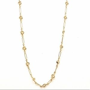J CREW golden knot long layering necklace NWOT $72